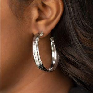 Hoop Wild Silver Earrings